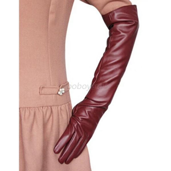Fashion-PU-Leather-Women-Long-Gloves-Over-Elbow-Opera-Evening-Party-Gloves-S-M-L