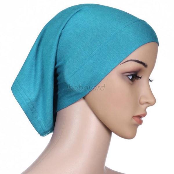 Islamic-Muslim-Women-Bonnet-Head-Cover-Cotton-Blend-Under-Scarf-Hijab-Tube-Cap