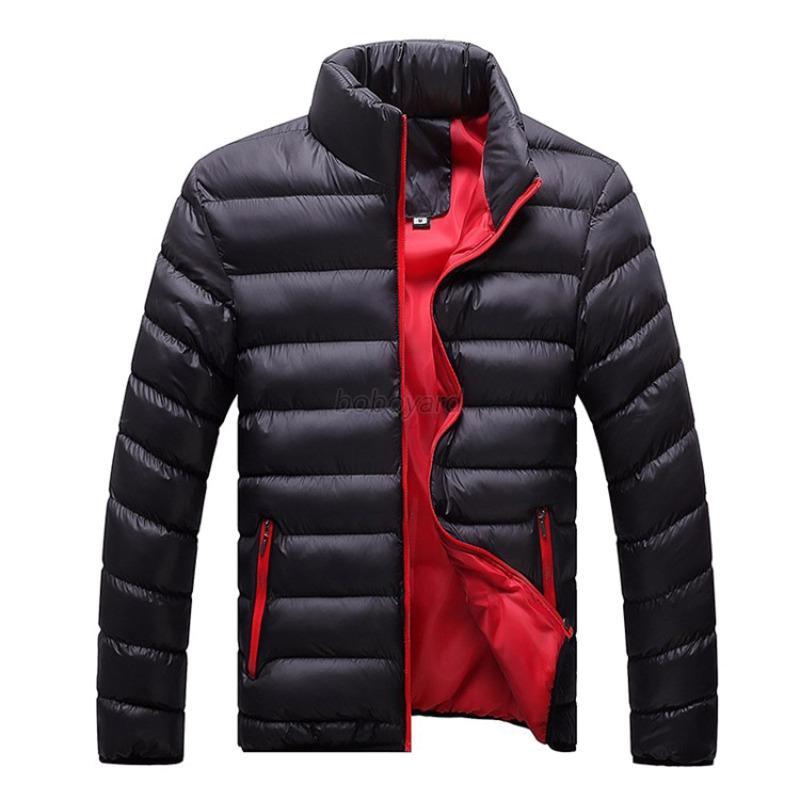 Men's Stylish Warm Down Jackets Zipper Coat Jacket Winter Warm ...