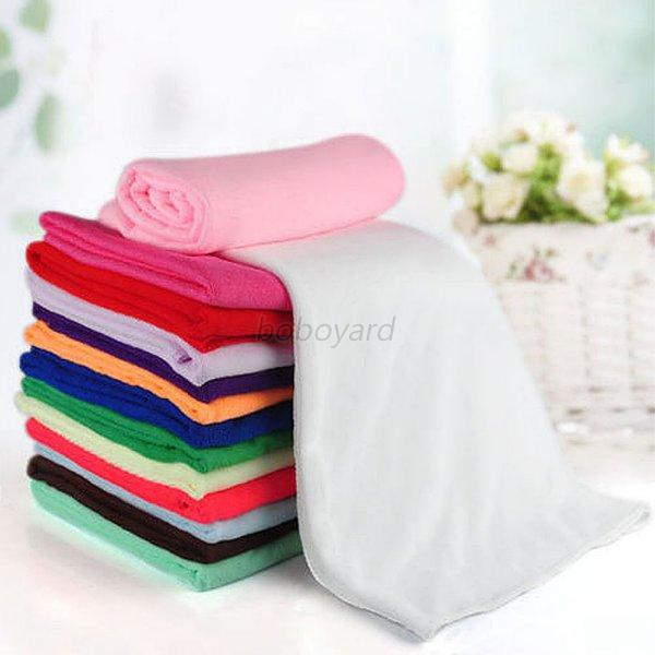 Red Microfiber Bath Towels: Soft Microfiber Absorbent Water Quick-Drying Travel Beach