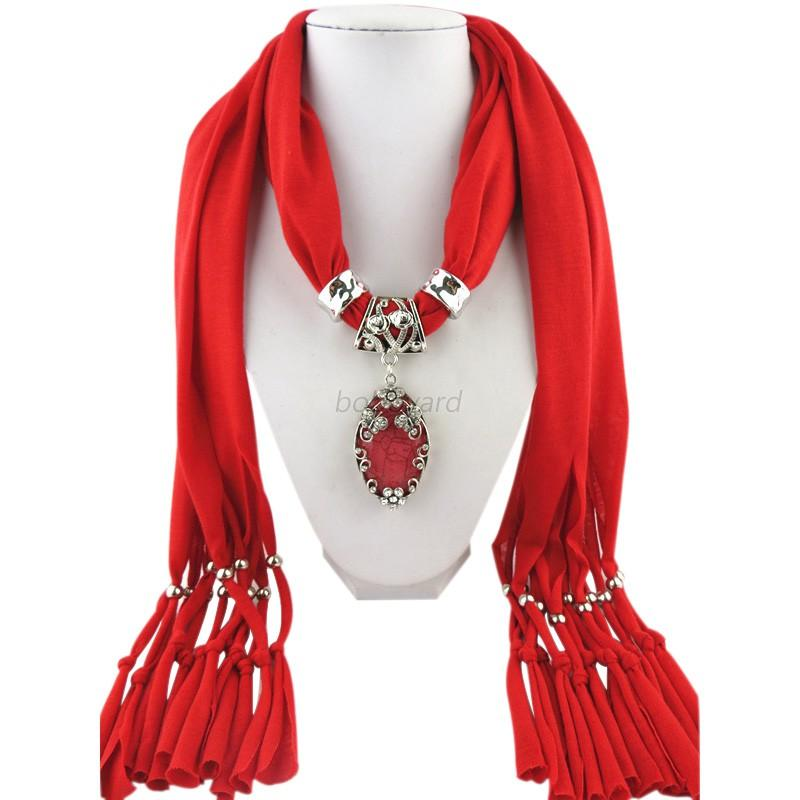 fashion diy necklace jewelry scarf drops pendant set