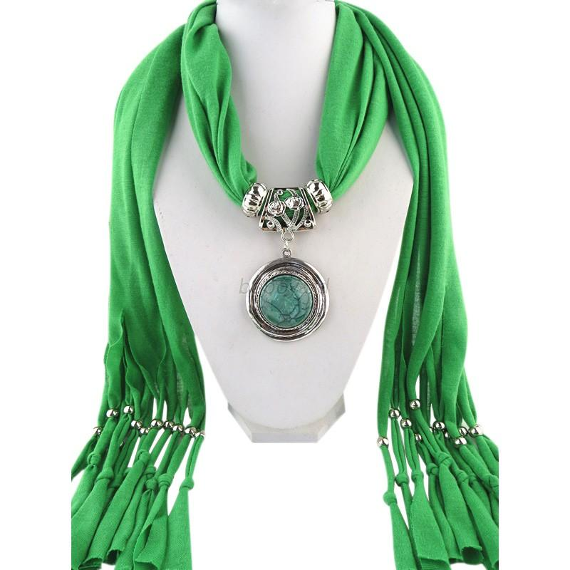 beaded pendant silk tassels jewelry scarves