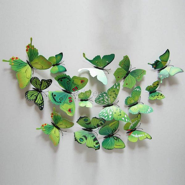 diy wall sticker 3d flower butterfly removable art mural waterfall 3d window view removable wall art sticker vinyl