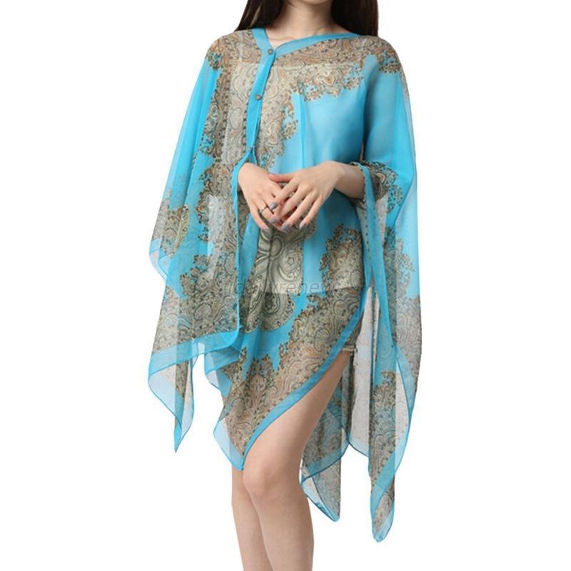 summer chiffon soft scarves shawl neck