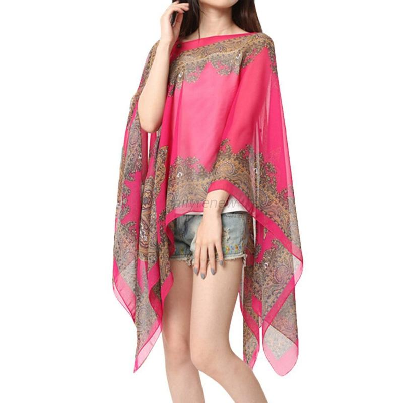 chiffon sunscreen summer soft scarves shawl neck wrap