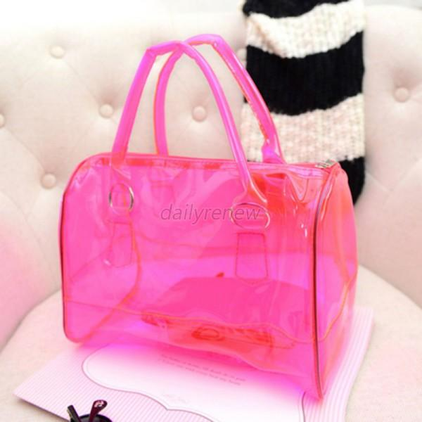 New designer clear transparent women 39 s handbag brief case for Designer beach bags and totes