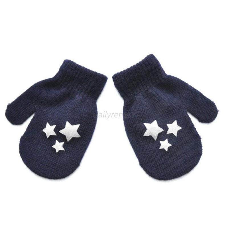 Newborn Baby Kids Girls Boys Child Gloves Winter Warm