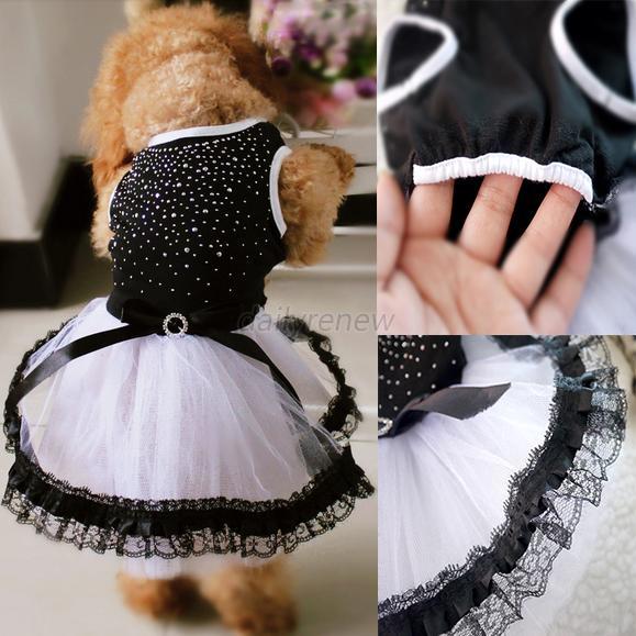 Pet-Dog-Cat-Princess-Bow-Tutu-Dress-Lace-Skirt-Puppy-Dog-Skirt-Apparel-Clothes thumbnail 40
