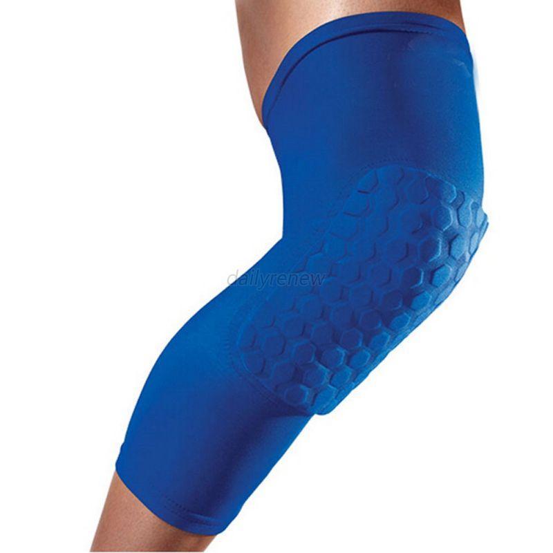 1 Pcs Honeycomb Pad Crashproof Basketball Leg Knee Long Sleeve Protector Gear