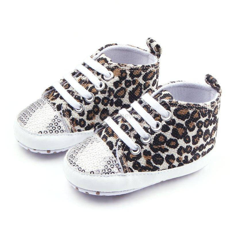 baby toddler leopard soft sole walking shoes sneaker