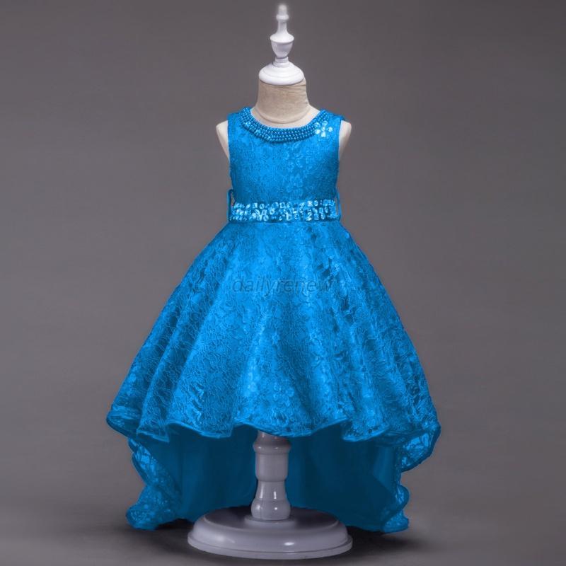 Baby-Flower-Girl-Birthday-Wedding-Bridesmaid-Pageant-Graduation-Formal-Dress-US