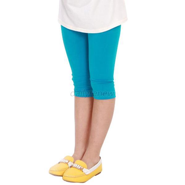 12 Colors Kids Girls Cotton Tight Leggings Children Summer