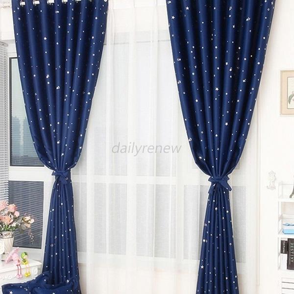Sheer Window Curtain Panels Star Print Curtain Panel Window Balcony Room Hot D61 Ebay