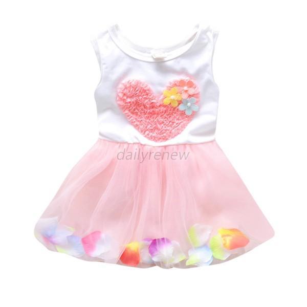 Hot Baby-Blumen-Tulle-Kleid Kleinkind-Mädchen Prinzessin Cute Party ...