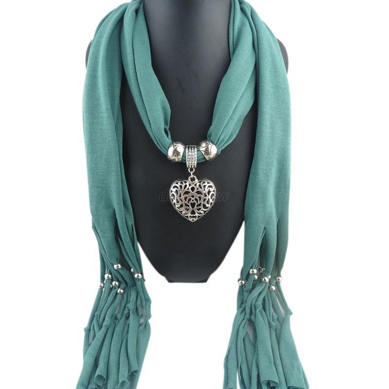 soft tassel pendant necklace scarves