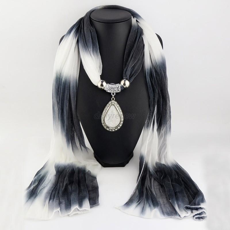 weiche quaste perlen wasser drop schmuck anh nger halskette schals wrap schal ebay. Black Bedroom Furniture Sets. Home Design Ideas