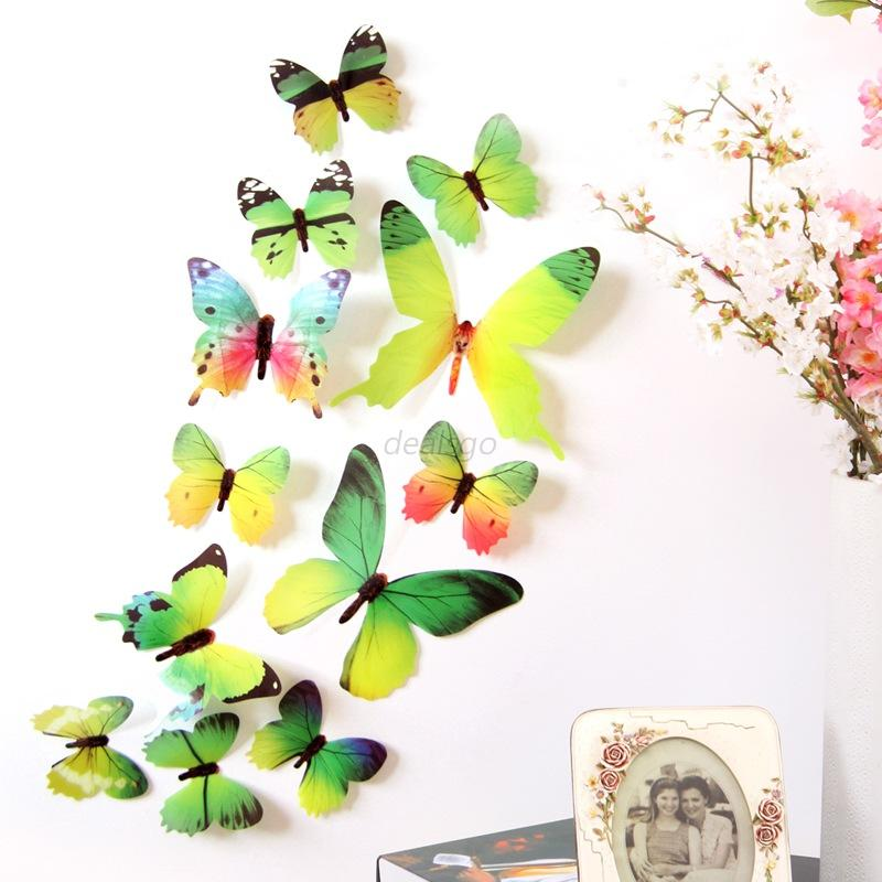 3d butterfly wall sticker decals for kids room art sticker children s butterfly fabric wall stickers by koko kids