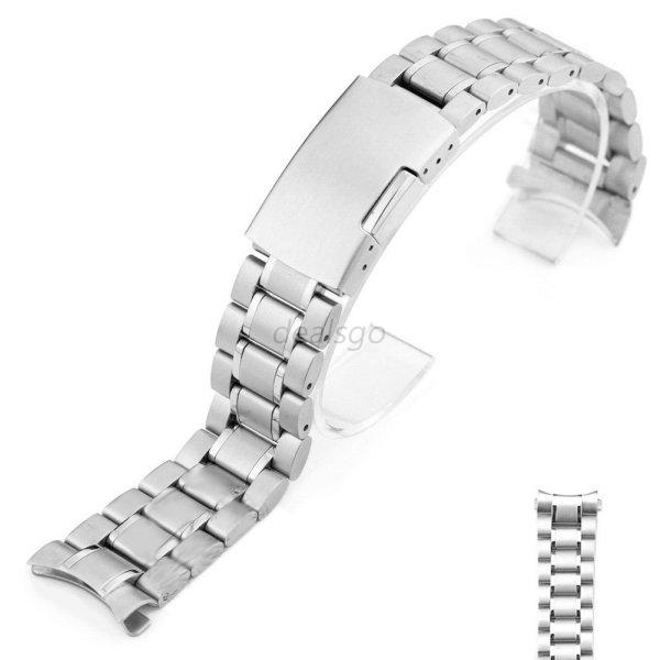 Stainless-Steel-Men-Metal-Watch-Bracelet-Band-Clasp-Watch-Band-Watch-Accessories