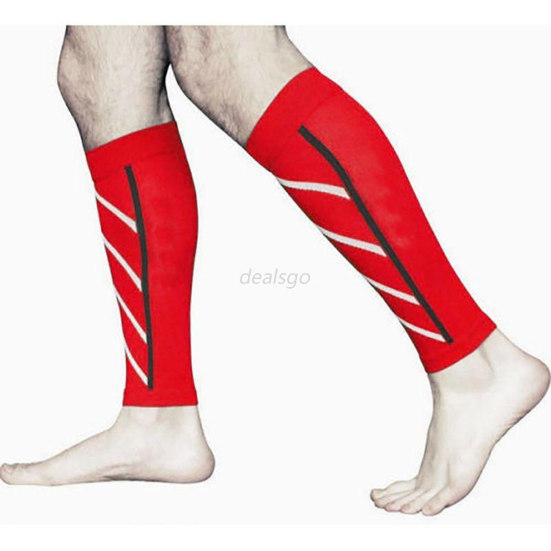 Unisex-Pair-Calf-Support-Compression-Leg-Sleeve-Sports-Exercise-Running-Socks-AU