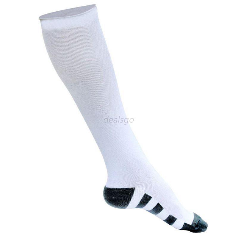 Men-Women-Compression-Leg-Support-Sport-Long-Socks-Unisex-Anti-fatigue-Stockings