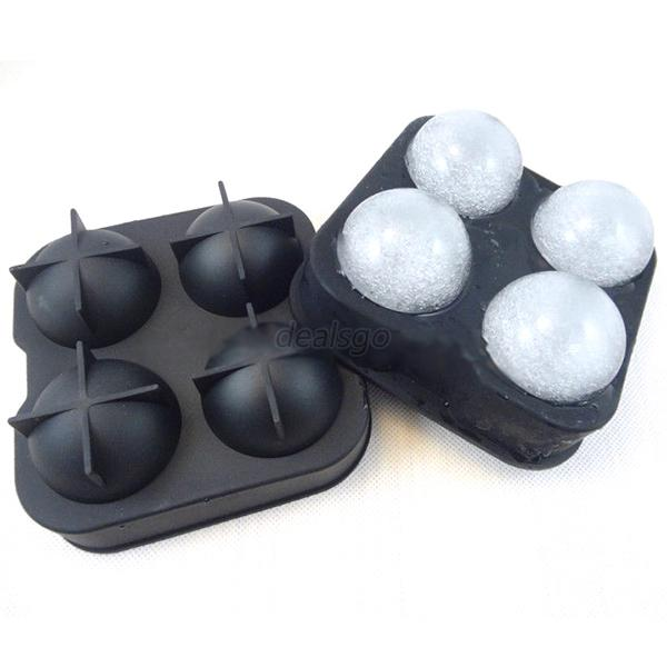 new kitchen drink sphere big round ball ice brick cube maker tray bar mold mould ebay. Black Bedroom Furniture Sets. Home Design Ideas