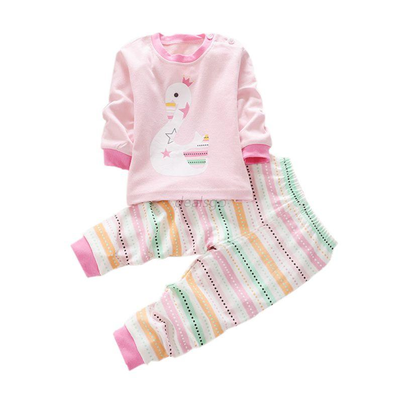 Infant Baby Kids Long Sleeve Shirt+Pants Toddler Boy Girl ...