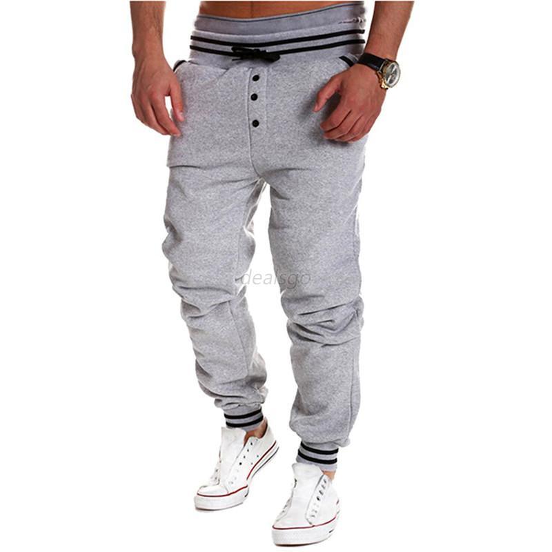 Mens Sport Trousers Sweat Pants Jogging Joggers Tracksuit ...