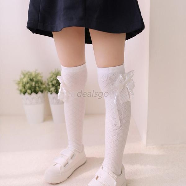 Baby Princess Salon Beauty Leg Ballet: Kids Girls Cotton Socks Tights Bowknot Leg Warmer School