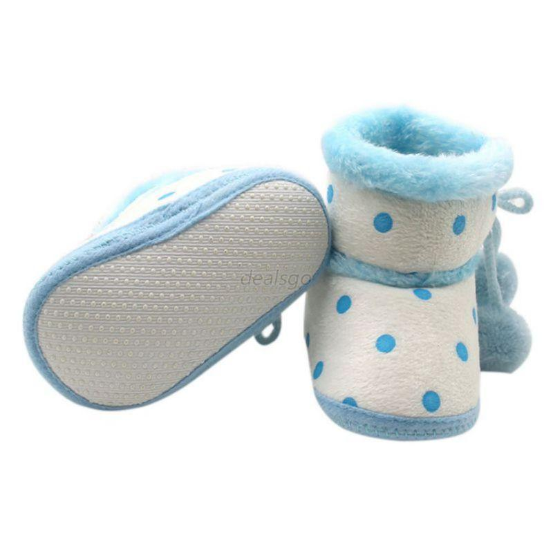 Cute Anti Slip for Winter Baby Girls Infant Toddler Shoes