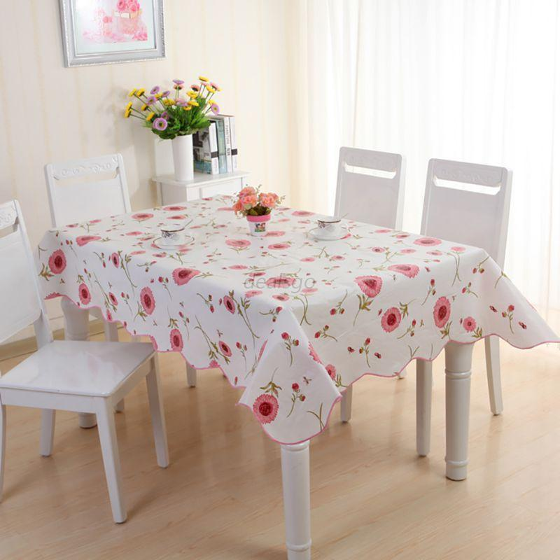 clean pvc vinyl tablecloth dining kitchen table cover protector ebay