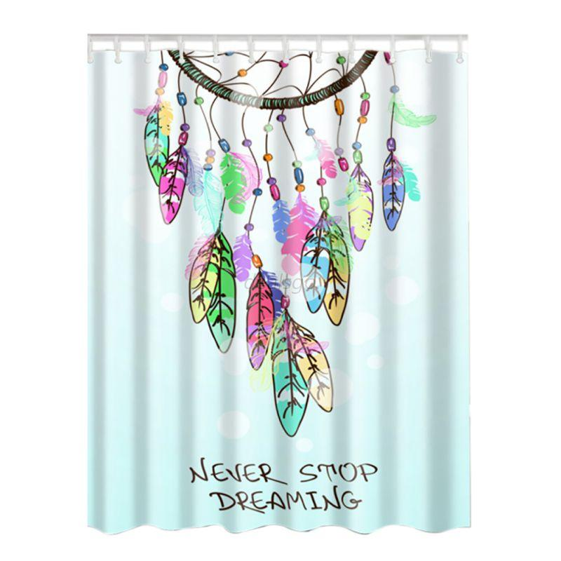 Abstract Waterproof Shower Curtain Bathroom Polyester Fabric Pattern With 12hook Ebay