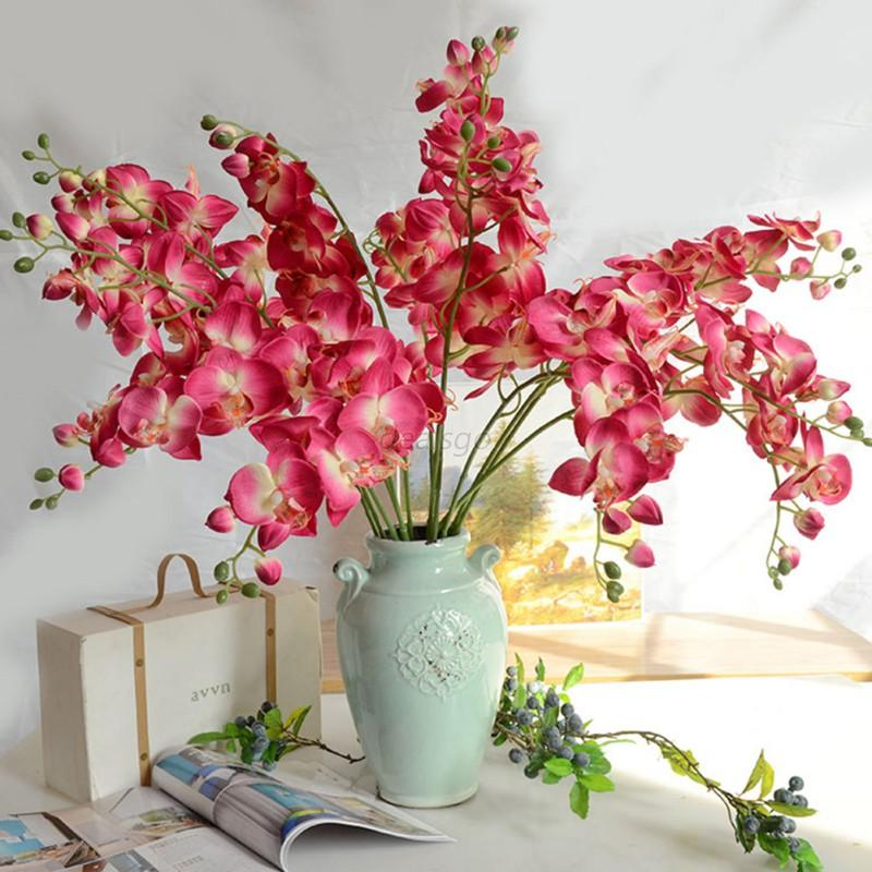 Home bargains wedding decorations lucoo artificial fake flower home bargains wedding decorations head romantic butterfly orchid flower silk floral party junglespirit Images