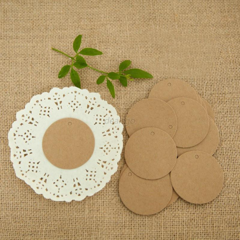 Wedding Favor Hang Tags : ... Blank Kraft Paper Hang Tags Wedding Favor Label Price Gift Party Cards