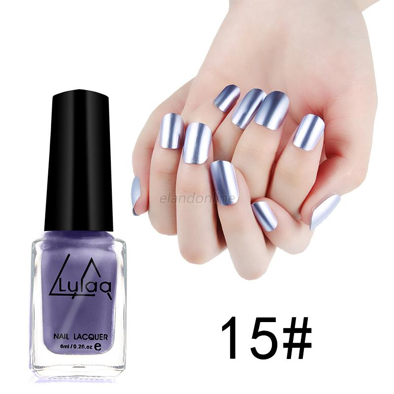 New DIY Nail Art Mirror Plating Metal Paste Color Nail Polish ...