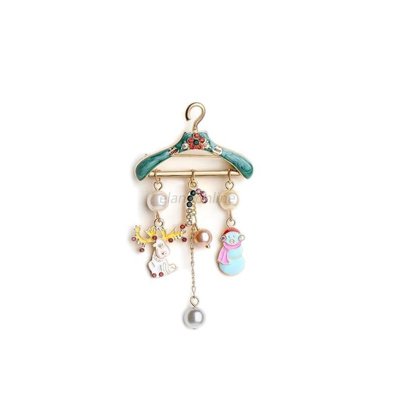 Christmas Xmas Rhinestone Crystal Enamel Brooch Pin Wedding Party Jewelry Gift