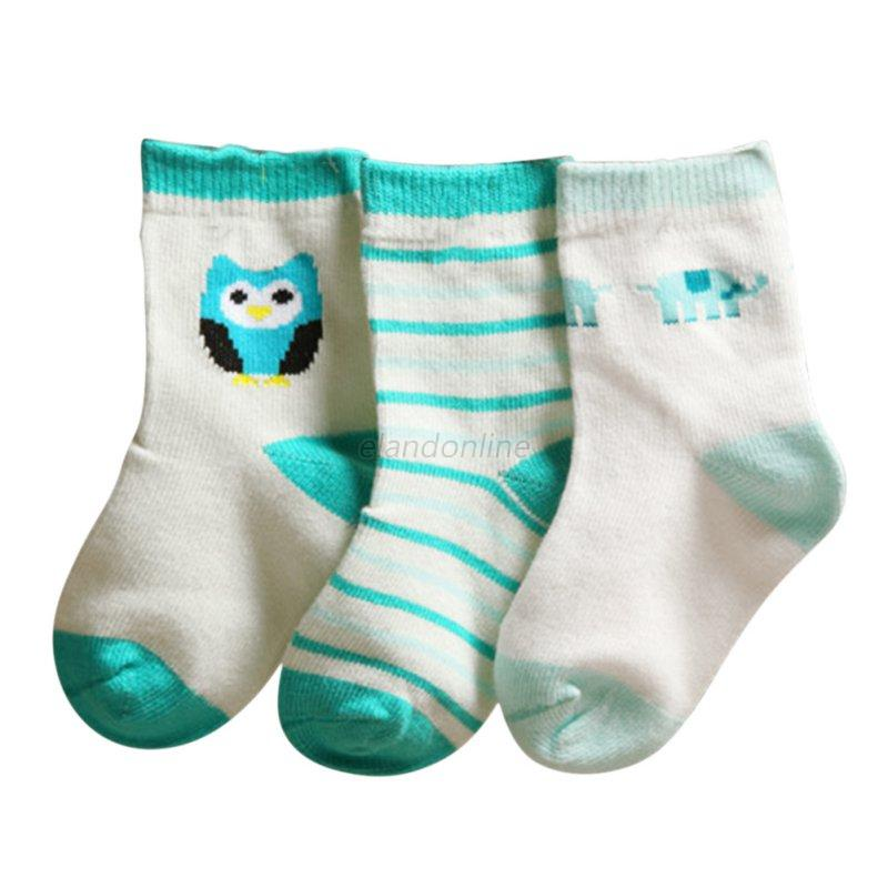 Cartoon Baby Boy Girl Cotton Socks Newborn Infant Toddler