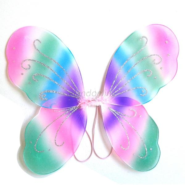 Cute Kids Girls Angel Fancy Fairy Butterfly Wings Party Halloween Costume Dress