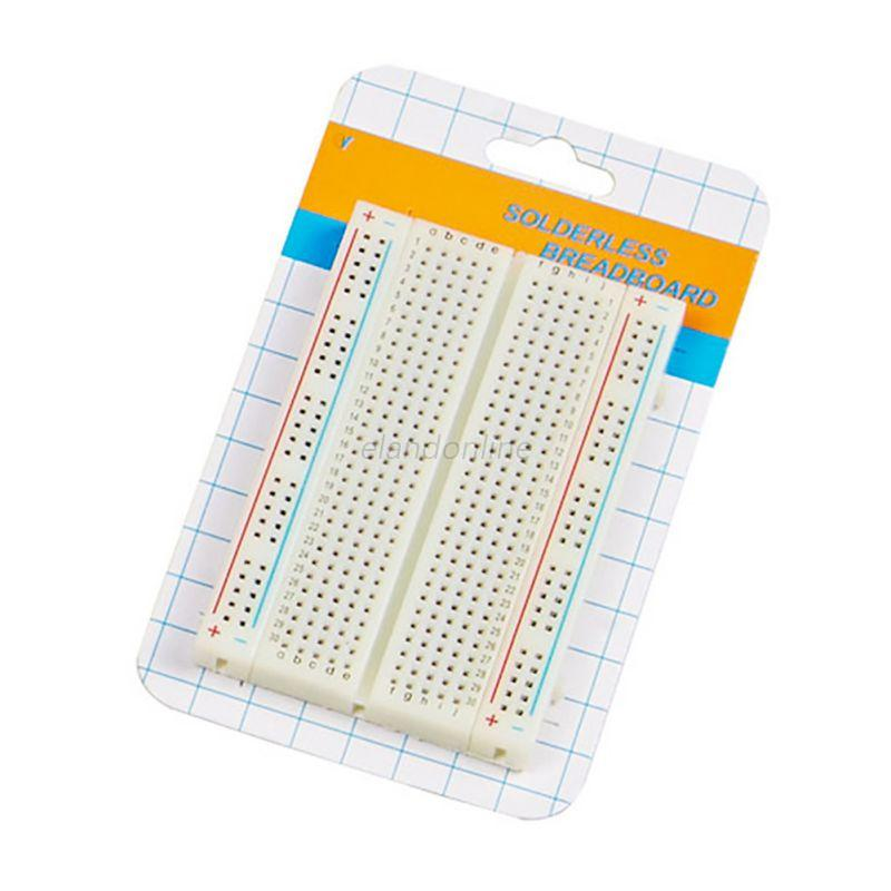 New-Solderless-Tie-point-Prototype-PCB-Breadboard-with-65pcs-Jumper-Leads-Wires