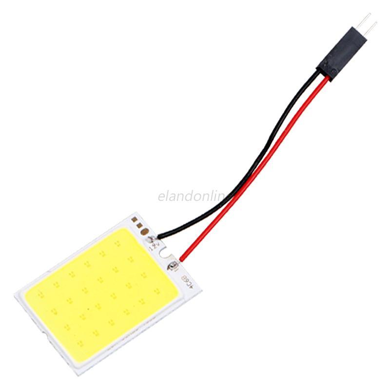 18-48SMD-COB-LED-T10-12V-White-Light-Car-Interior-Panel-Lights-Dome-Lamp-Bulb-4W