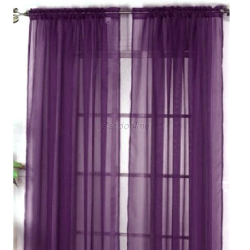 puerta ventana cortina cortina bufanda variados bufanda gasa - Cortinas Moradas