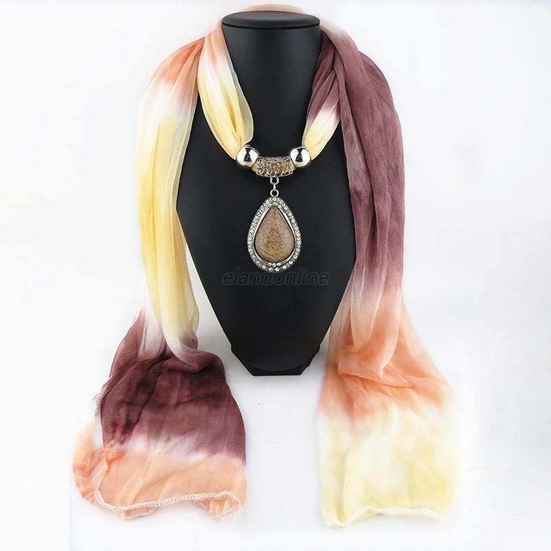 Women tassel beads scarf long necklace water drop multi color women tassel beads scarf long necklace water drop aloadofball Images
