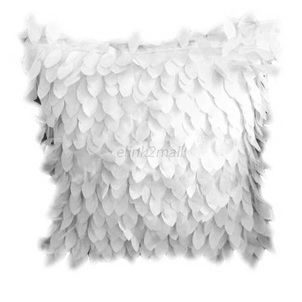 Hot Fallen Leaves Feather Couch Cushion Cover Home Decor Sofa Throw Pillow Case