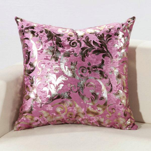 Modern Silver Pillows : Modern Silver Cushion Cover Floral Silk Decorative Pillow Throw Case