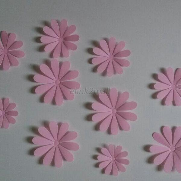 3d mirror wall stickers nice home decoration unique for 3d flowers for wall decoration