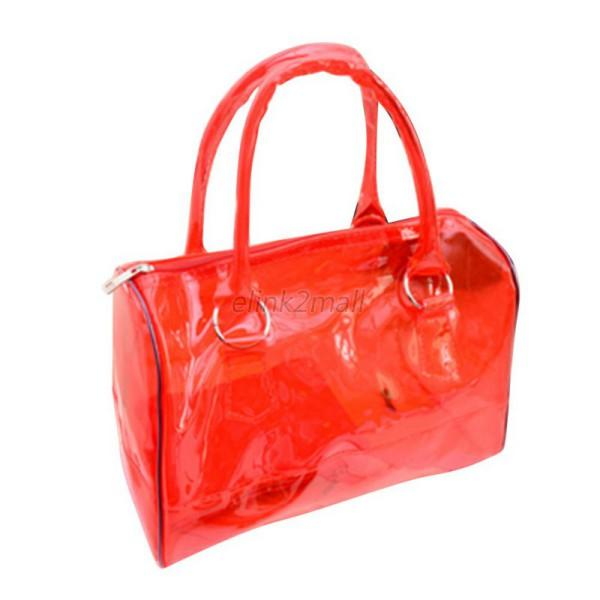 Vogue Lady Transparent Handbag Bag Clear Jelly Purse Women Clutch ...