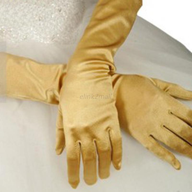 Shiv Naresh Teens Boxing Gloves 12oz: Fashion Women's Ladies Scalable Long Gloves Satin Wedding