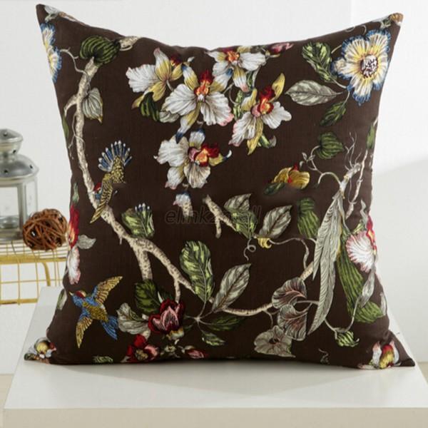floral plaid throw pillow home room car sofa deco pillow