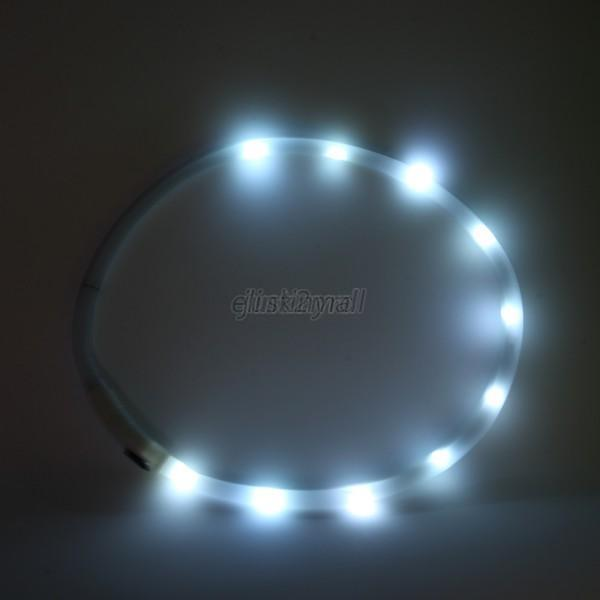 New-Rechargeable-USB-Flashing-Night-Safety-LED-Dog-Collar-Adjustable-All-Pet-E44