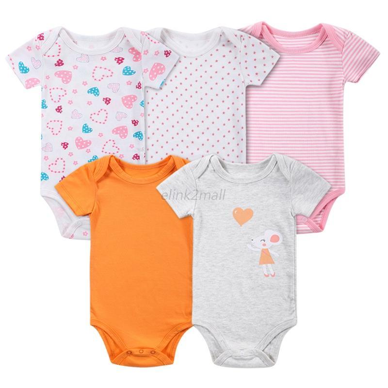 5X-Baby-Girl-Boy-Newborn-Summer-Cartoon-Stripe-Jumpsuit-Outfits-Sunsuit-Clothes