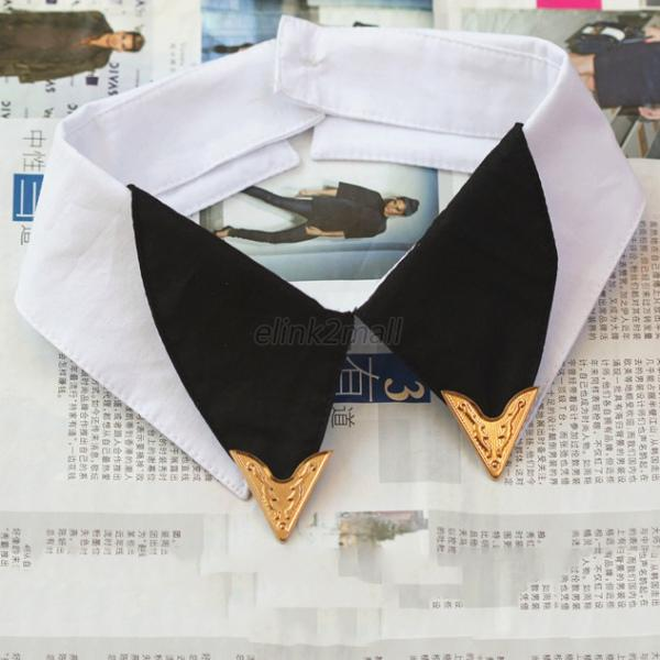 Womens-Ladies-Fake-False-Collar-Detachable-Lapel-Shirt-Peter-Pan-Choker-Necklace